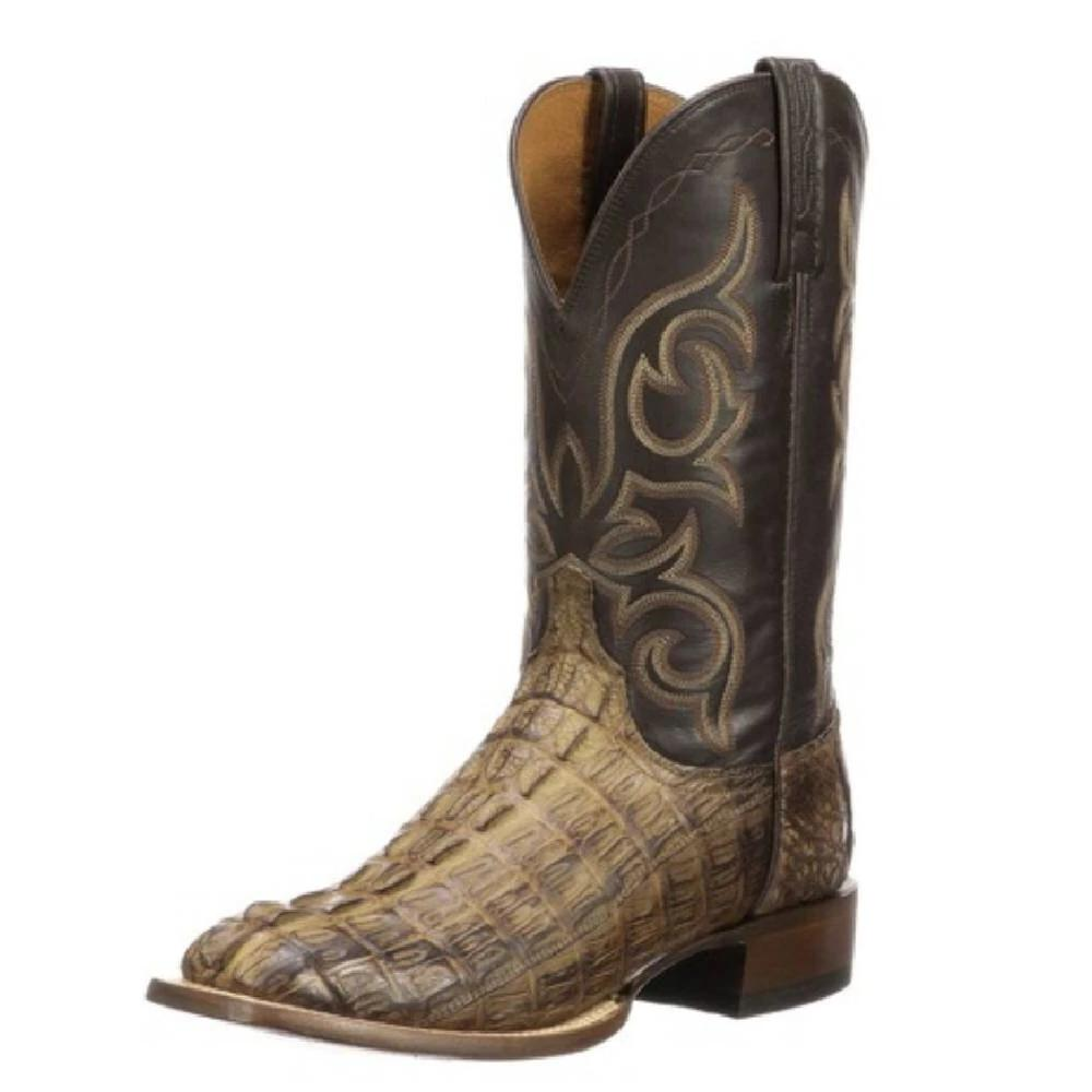 Lucchese Haan Hornback Caiman tail MEN - Footwear - Exotic Western Boots LUCCHESE BOOT CO. Teskeys