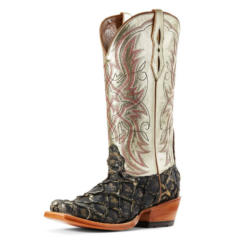 Ariat Derby Exotic Slate Big Bass WOMEN - Footwear - Boots - Exotic Boots Ariat Footwear Teskeys