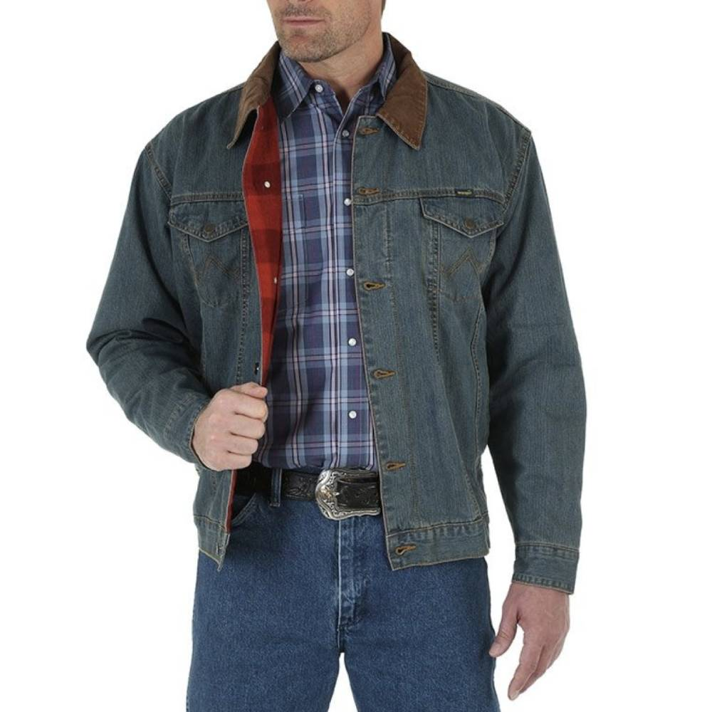 Wrangler Blanket Lined Denim Jacket MEN - Clothing - Outerwear - Jackets WRANGLER Teskeys
