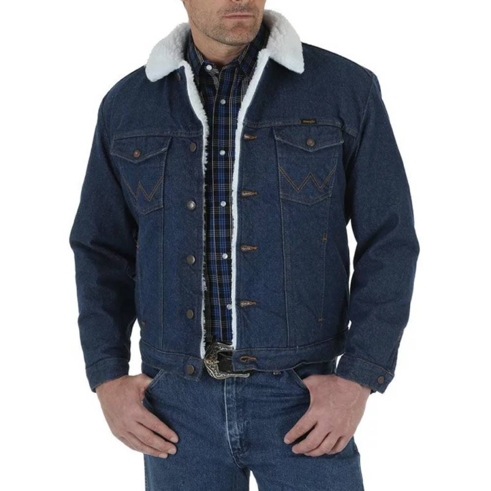 Wrangler Sherpa Lined Denim Jacket MEN - Clothing - Outerwear WRANGLER Teskeys