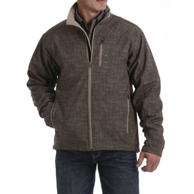 Cinch Cross-Hatch Print Bonded Jacket MEN - Clothing - Outerwear - Jackets CINCH Teskeys