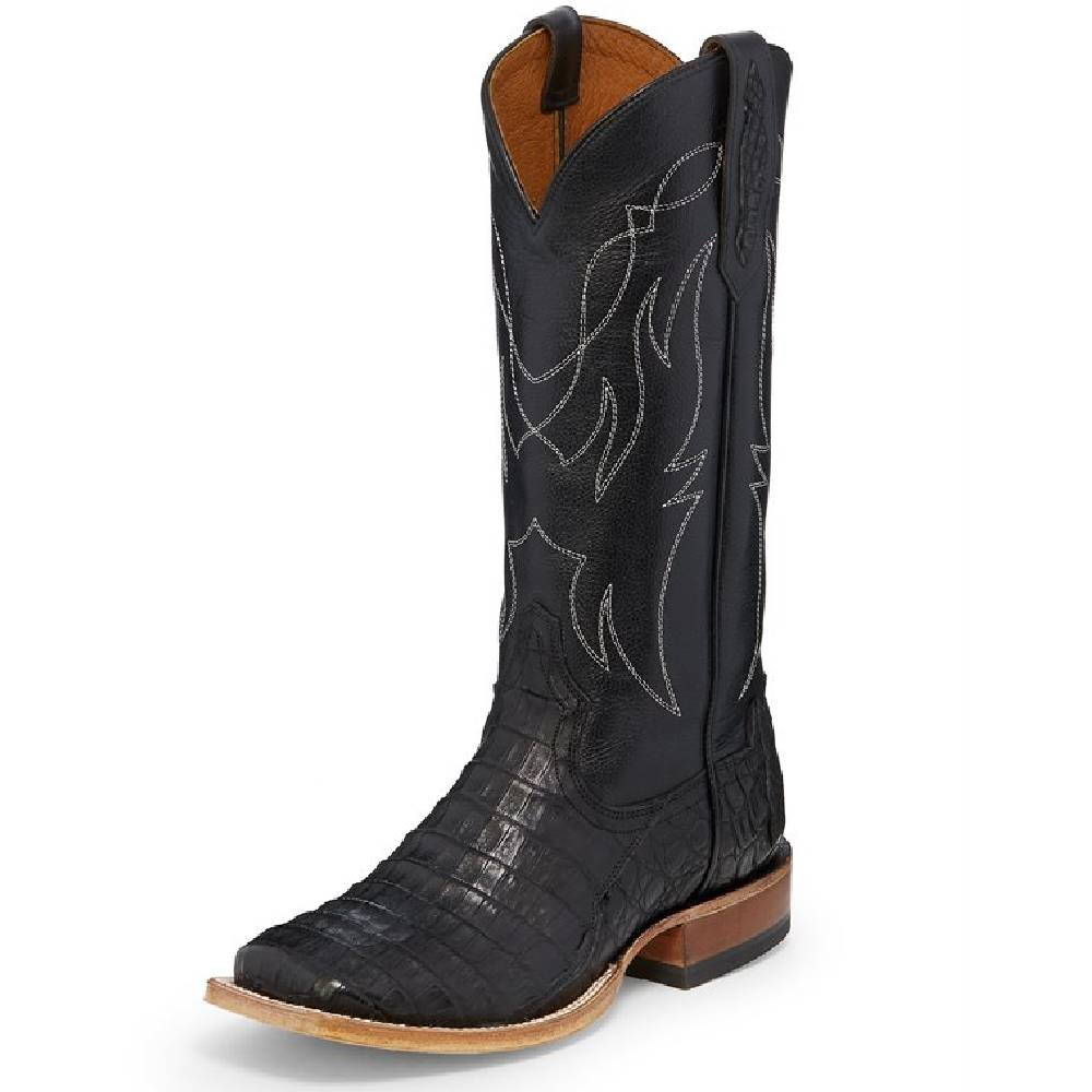 Tony Lama Leighton Black Caiman WOMEN - Footwear - Boots - Exotic Boots TONY LAMA BOOTS Teskeys