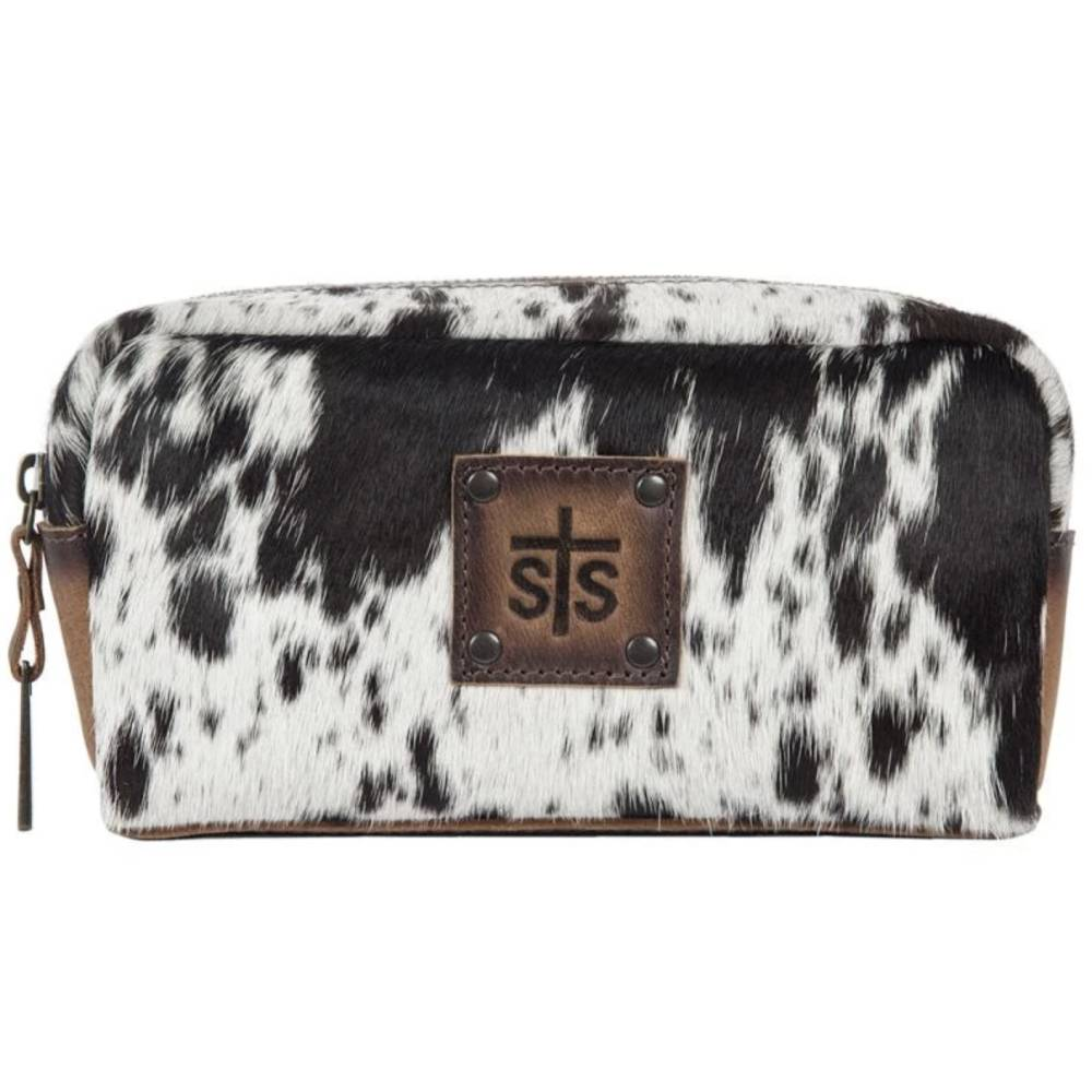 STS Ranchwear Cowhide Cosmetic Bag ACCESSORIES - Luggage & Travel - Cosmetic Bags STS Ranchwear Teskeys