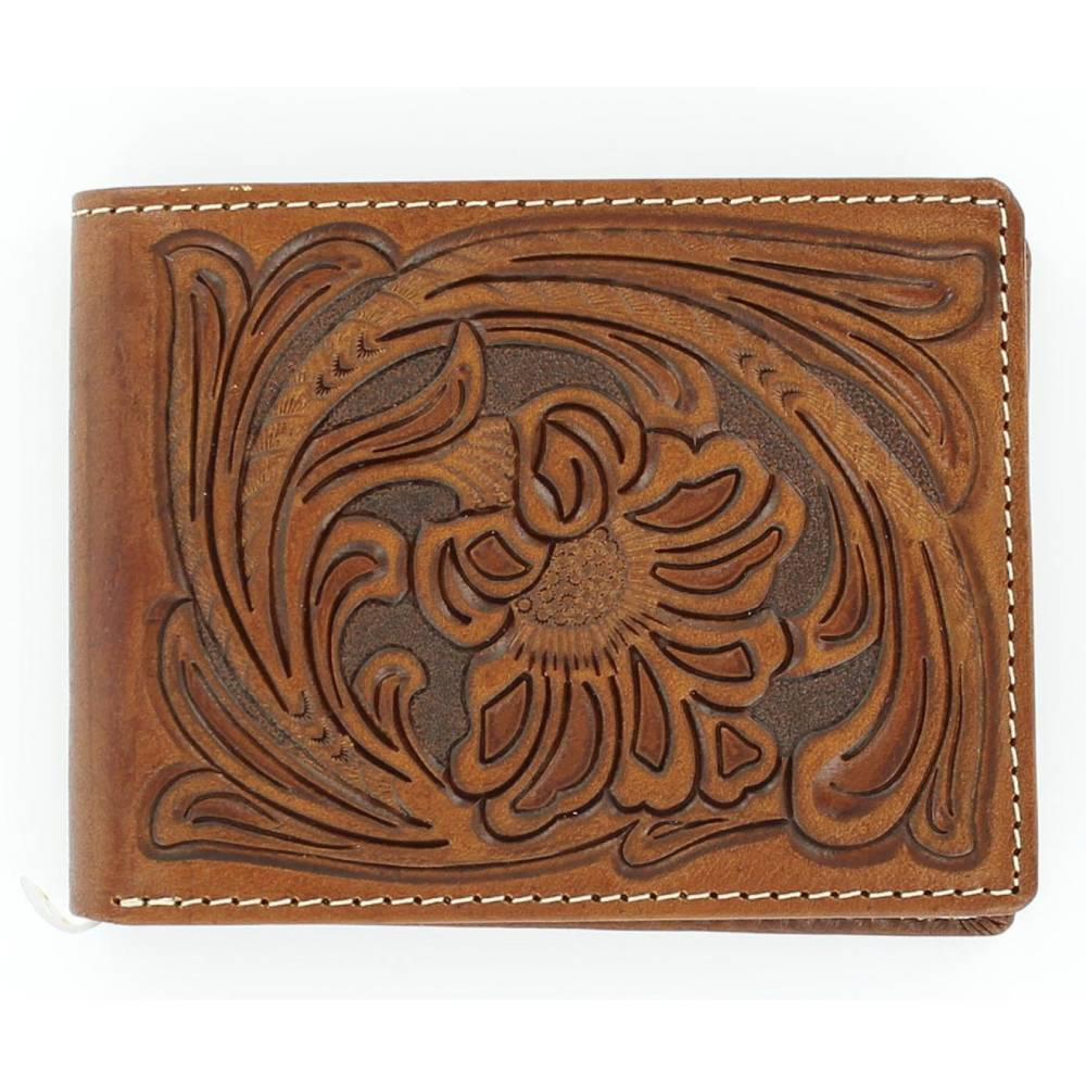 Floral Embossed Bi-Fold Wallet MEN - Accessories - Wallets & Money Clips M&F WESTERN PRODUCTS Teskeys