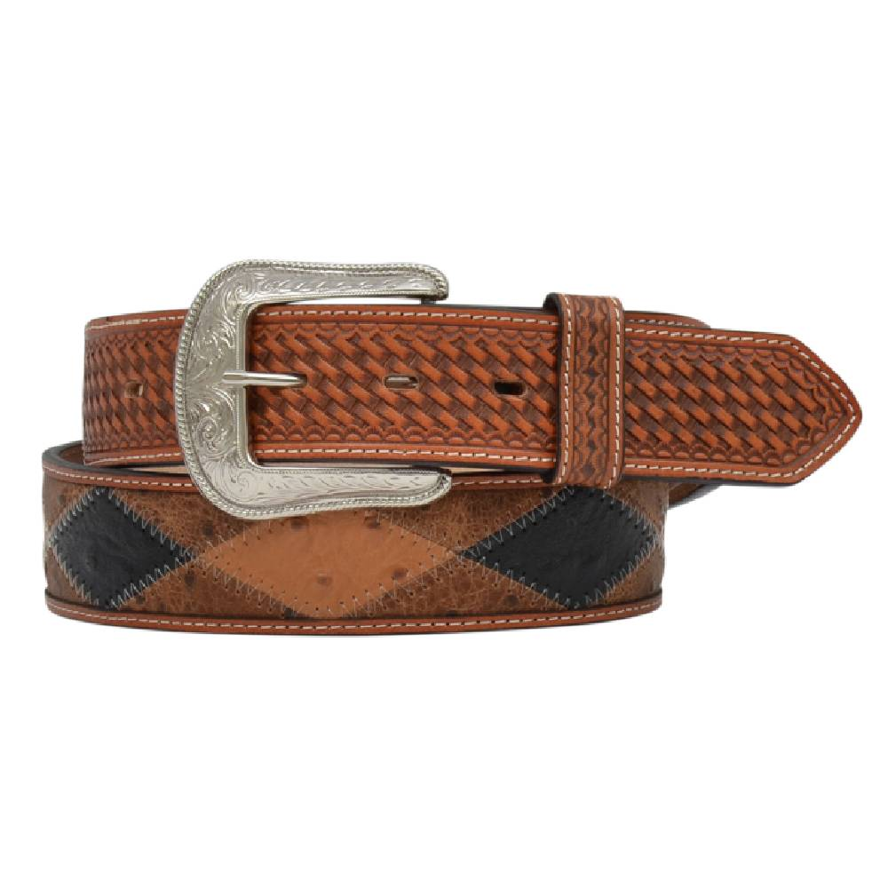 Ostrich Patchwork Belt MEN - Accessories - Belts & Suspenders M&F WESTERN PRODUCTS Teskeys