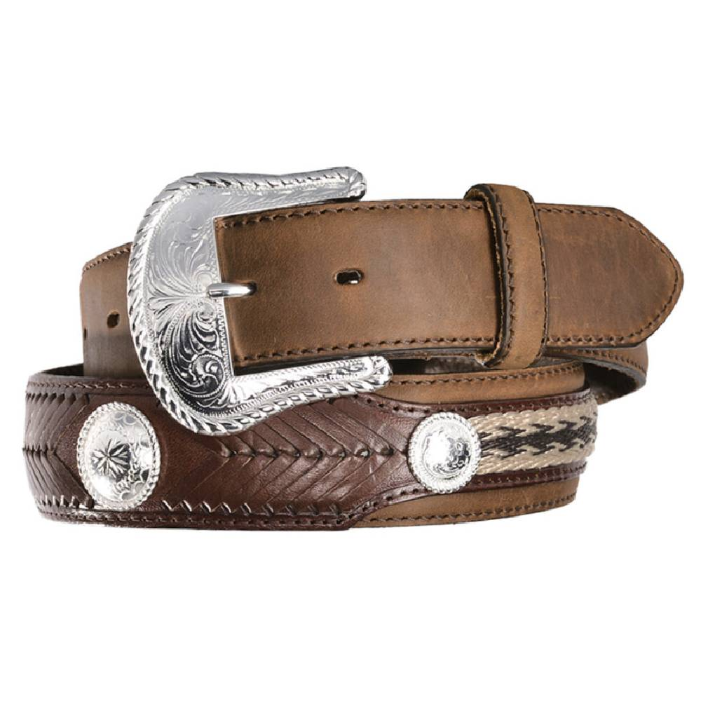 "Tony Lama ""The Duke"" Leather Belt MEN - Accessories - Belts & Suspenders Leegin Teskeys"