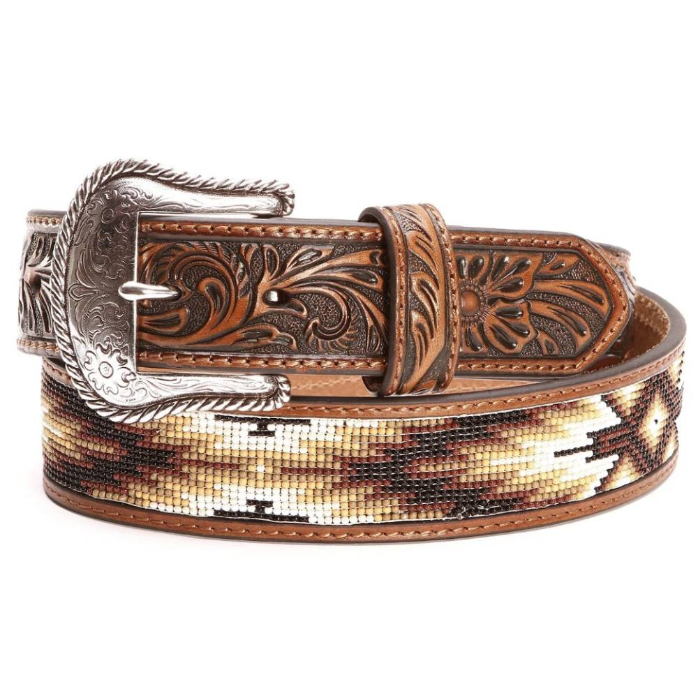 Southwestern Beaded Inlay Belt MEN - Accessories - Belts & Suspenders M&F WESTERN PRODUCTS Teskeys