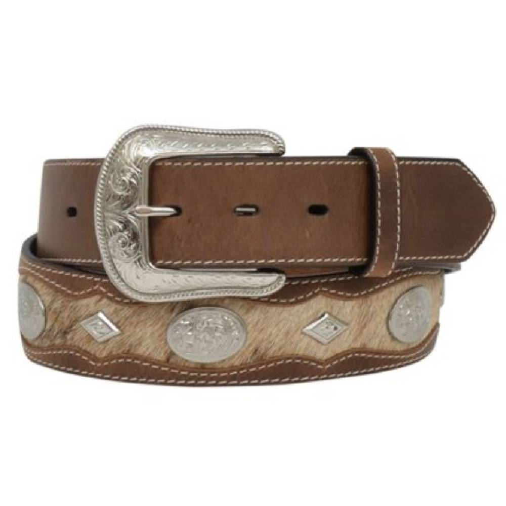 Cowhide Concho Belt MEN - Accessories - Belts & Suspenders M&F WESTERN PRODUCTS Teskeys