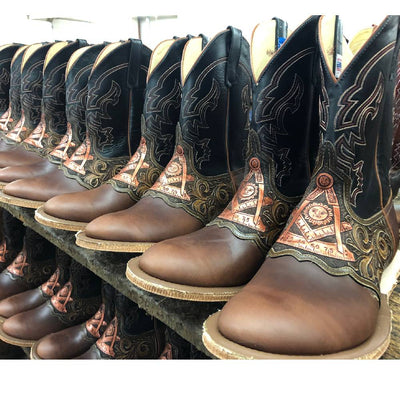 Teskey's Exclusive Past Master Round Toe Boot MEN - Footwear - Western Boots ANDERSON BEAN BOOT CO. Teskeys