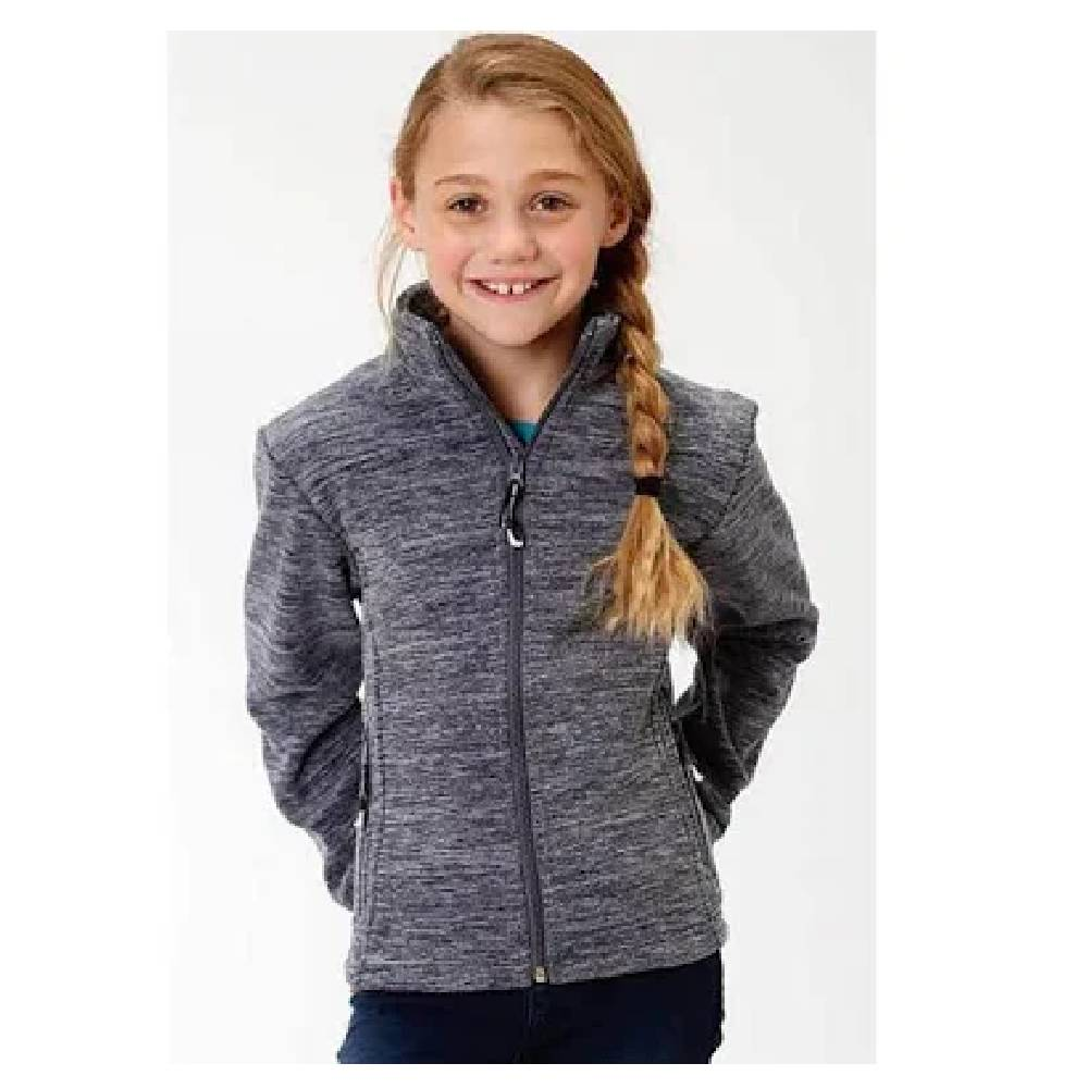 Girl's Navy Micro Fleece Jacket KIDS - Girls - Clothing - Outerwear - Jackets ROPER APPAREL & FOOTWEAR Teskeys