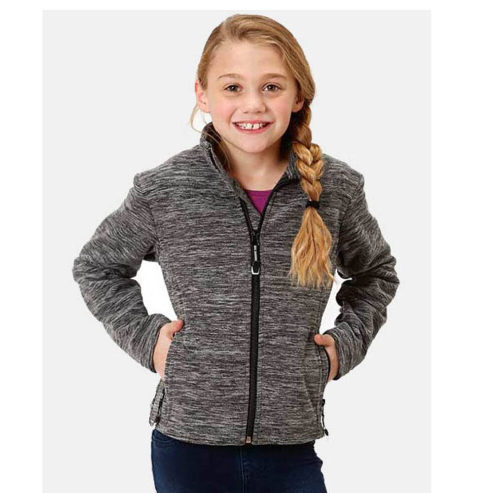 Girls Black Micro Fleece Jacket