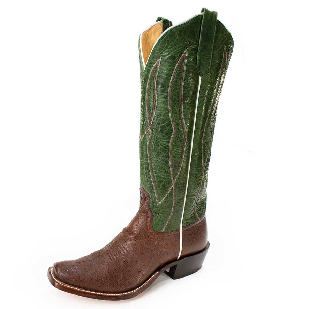 Rios of Mercedes Tobacco Smooth Ostrich MEN - Footwear - Exotic Western Boots RIOS OF MERCEDES BOOT CO. Teskeys