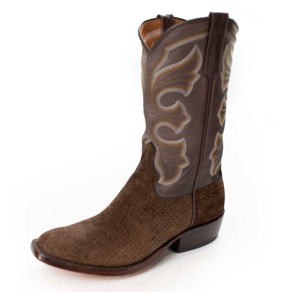 Rios of Mercedes Brown Hippo/Choc Remuda MEN - Footwear - Exotic Western Boots RIOS OF MERCEDES BOOT CO. Teskeys