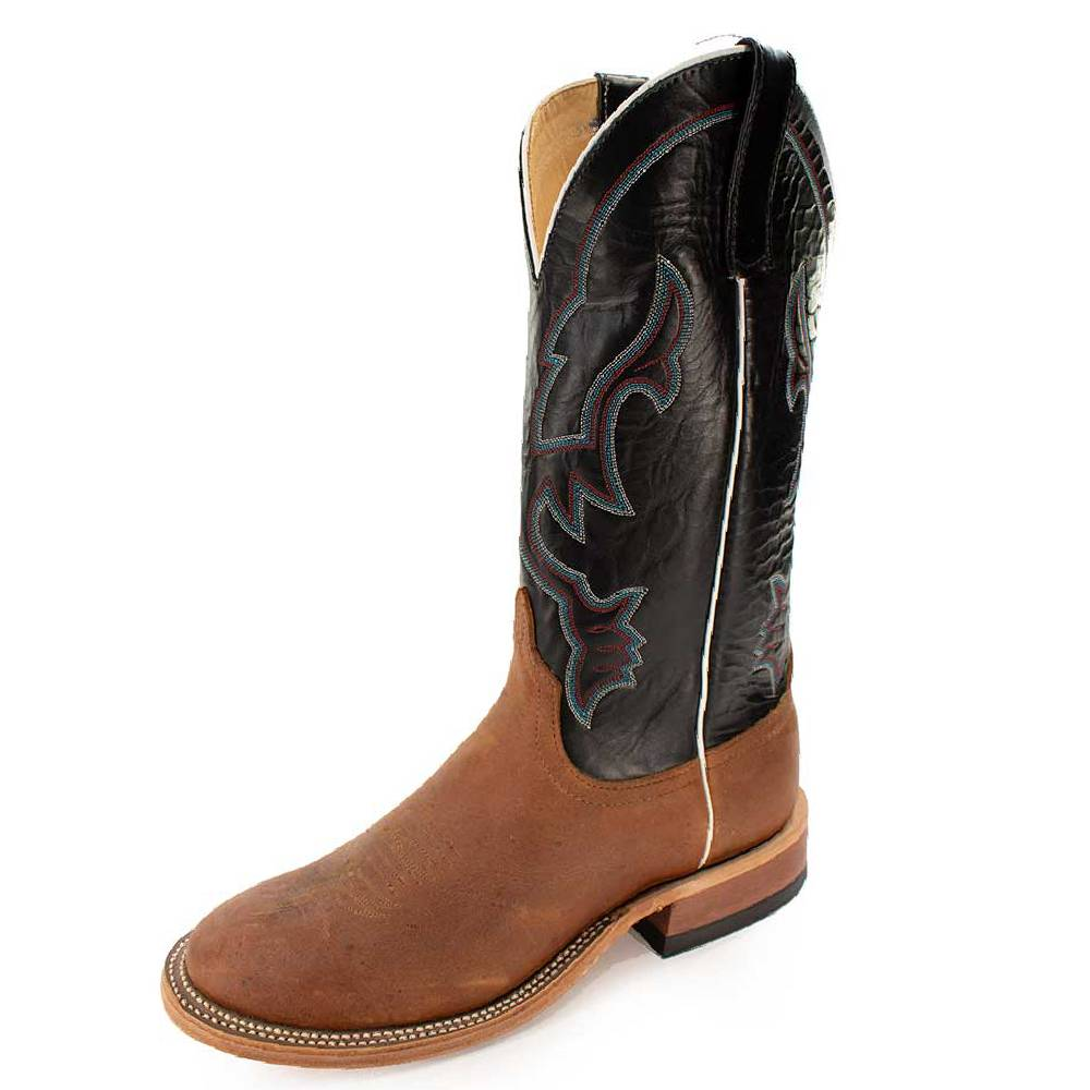 Anderson Bean Saddle Tan Elk Skin Boot MEN - Footwear - Western Boots ANDERSON BEAN BOOT CO. Teskeys