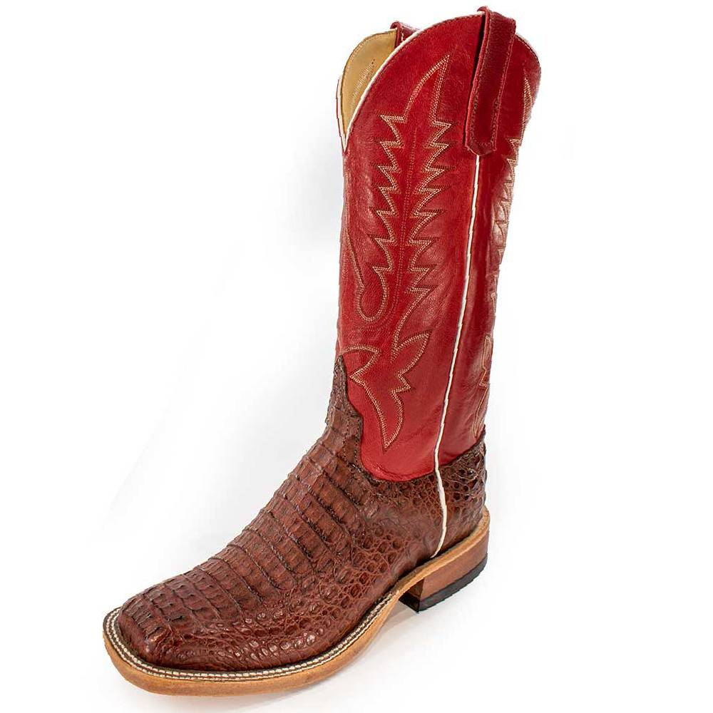 Anderson Bean Rust Hornback Caiman MEN - Footwear - Exotic Western Boots ANDERSON BEAN BOOT CO. Teskeys