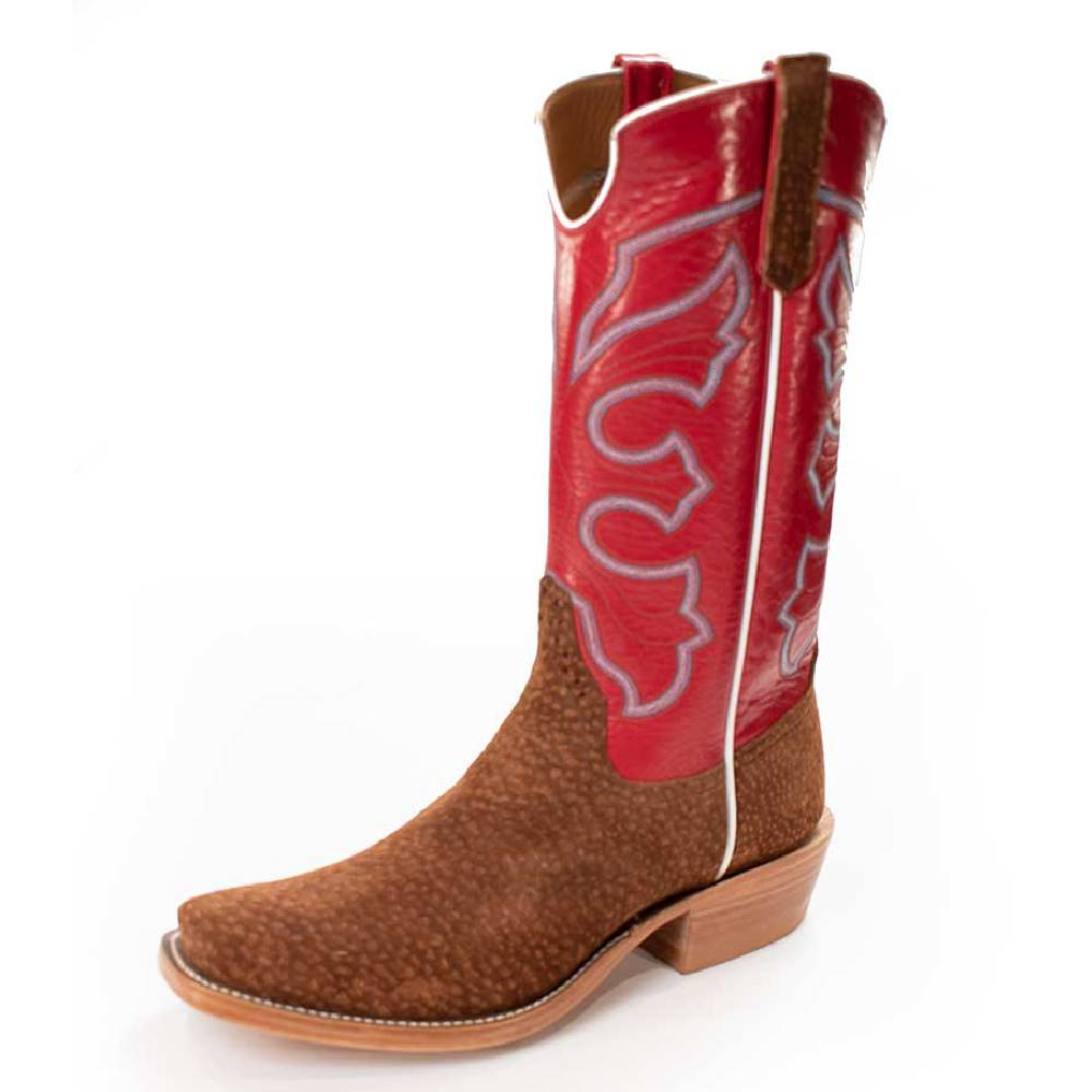 Rios of Mercedes Rust Carpincho MEN - Footwear - Exotic Western Boots RIOS OF MERCEDES BOOT CO. Teskeys