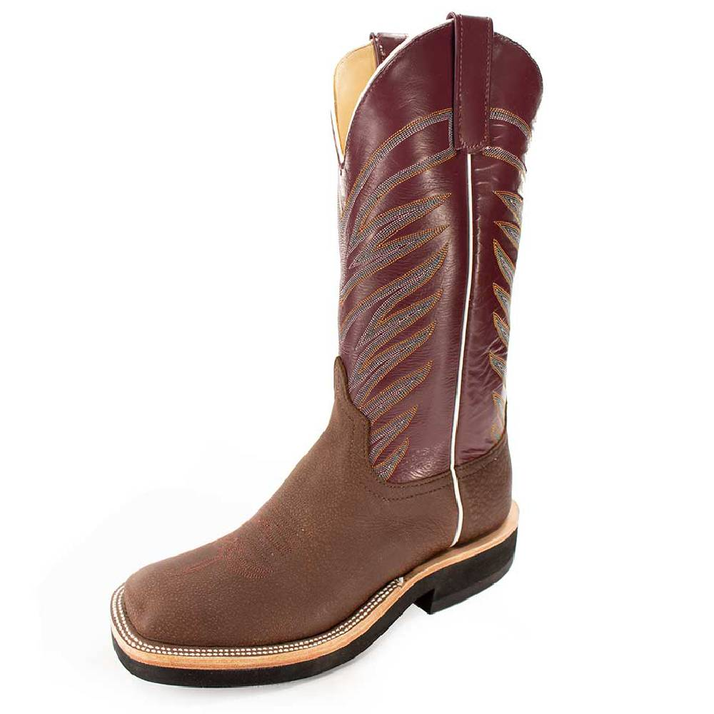 Anderson Bean Brown Buffalo Crepe Sole MEN - Footwear - Western Boots ANDERSON BEAN BOOT CO. Teskeys