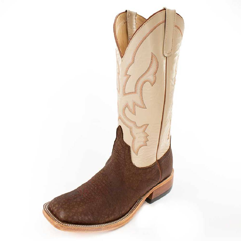 Anderson Bean Brown Slanted Buffalo Boot MEN - Footwear - Western Boots ANDERSON BEAN BOOT CO. Teskeys
