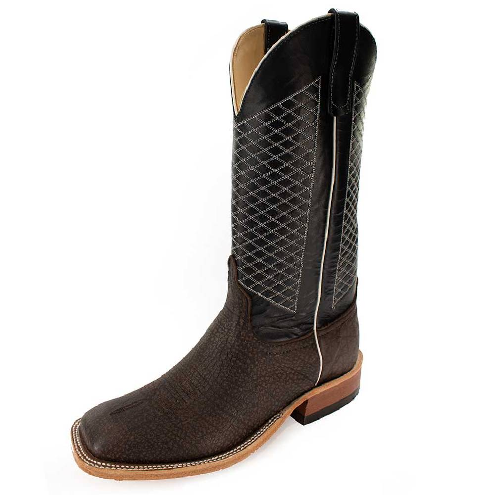 Anderson Bean Grey Buffalo/Navy Top MEN - Footwear - Western Boots ANDERSON BEAN BOOT CO. Teskeys