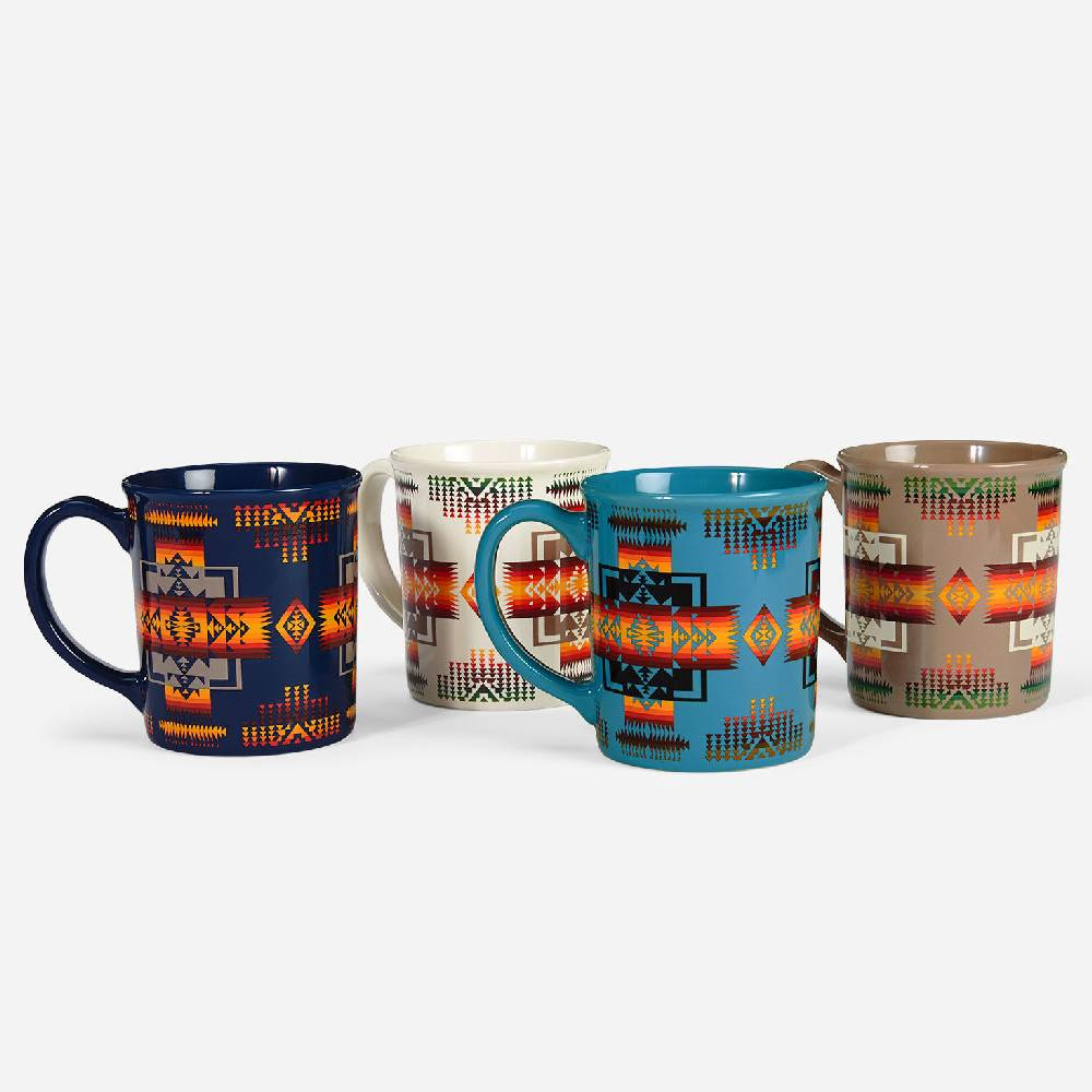 Pendleton Chief Joseph Ceramic Mugs - Set of 4 HOME & GIFTS - Tabletop + Kitchen - Drinkware + Glassware PENDLETON Teskeys
