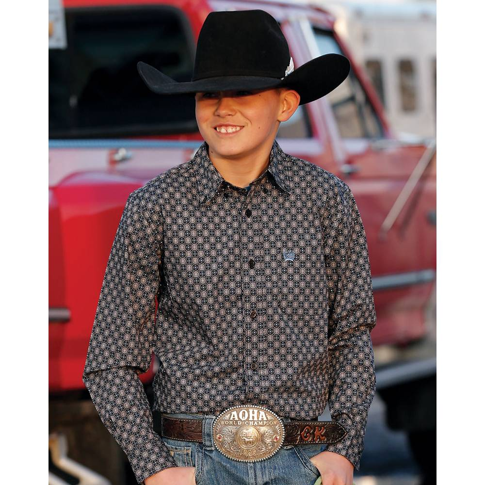 Cinch Boys Button Down Shirt KIDS - Boys - Clothing - Shirts - Long Sleeve Shirts CINCH Teskeys