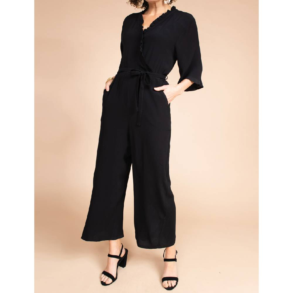 Uncle Frank Ruffle Wrap Jumpsuit WOMEN - Clothing - Jumpsuits & Rompers UNCLE FRANK Teskeys