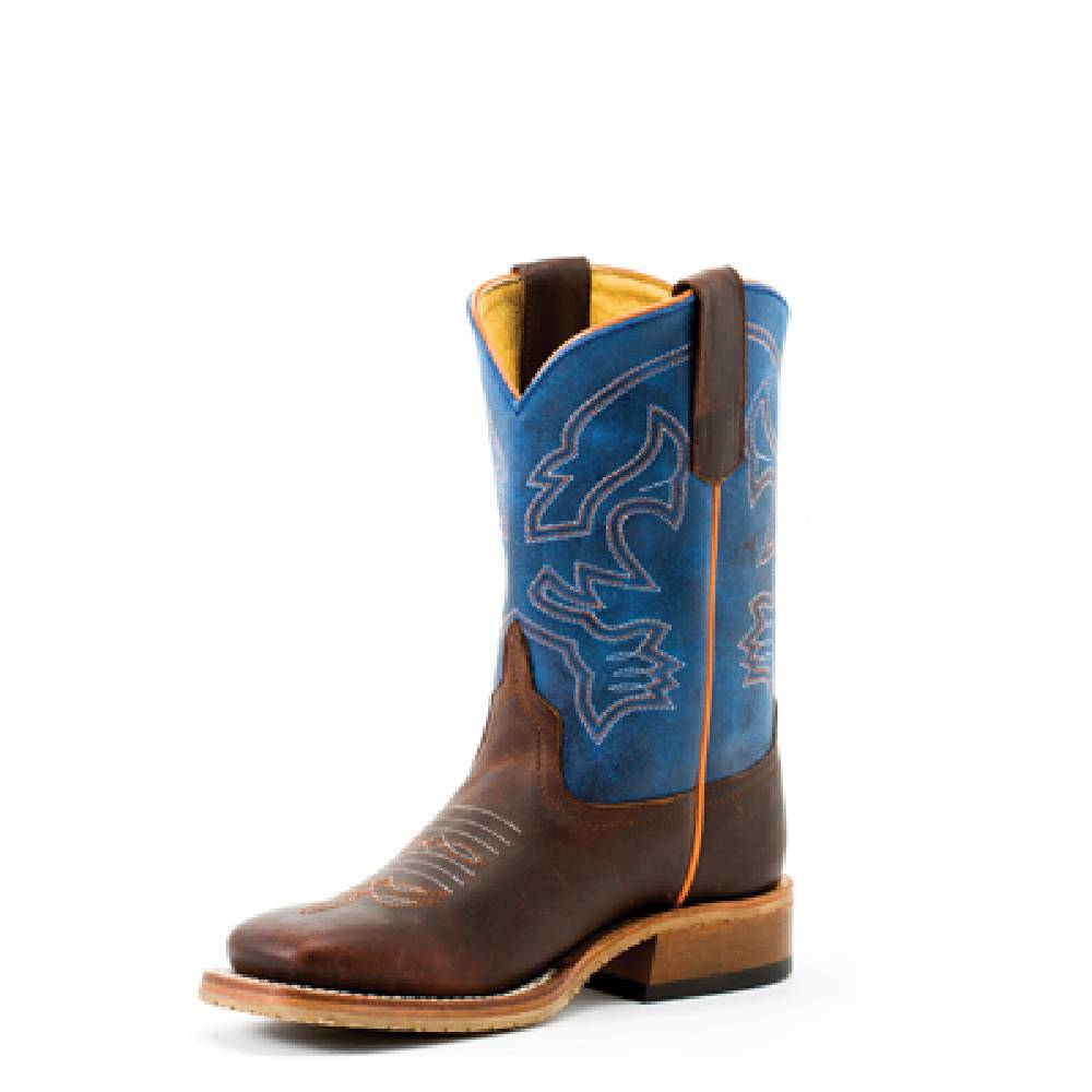 Youth Blue Mad Dog and Toasted Bison Boots KIDS - Boys - Footwear - Boots ANDERSON BEAN BOOT CO. Teskeys
