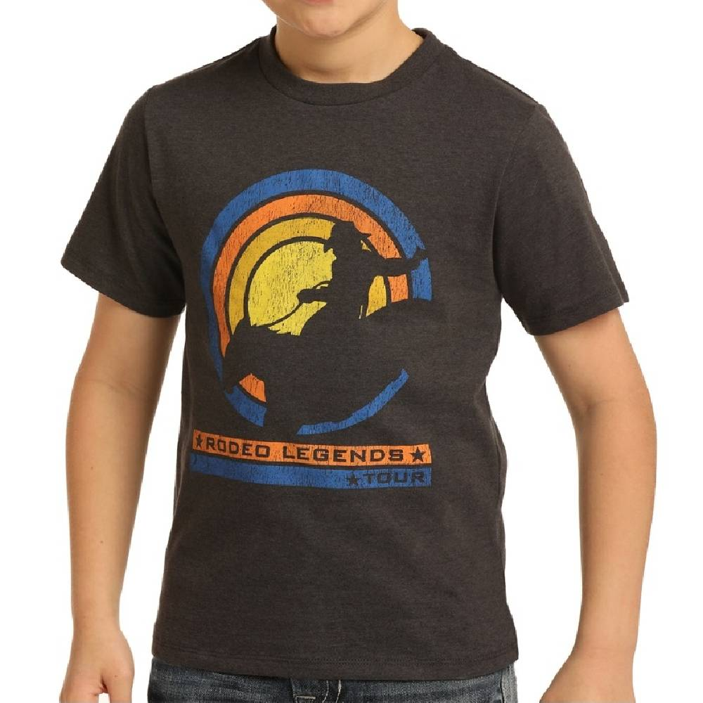 Boys Rock & Roll Rodeo Legend Tee KIDS - Boys - Clothing - T-Shirts & Tank Tops Panhandle Teskeys