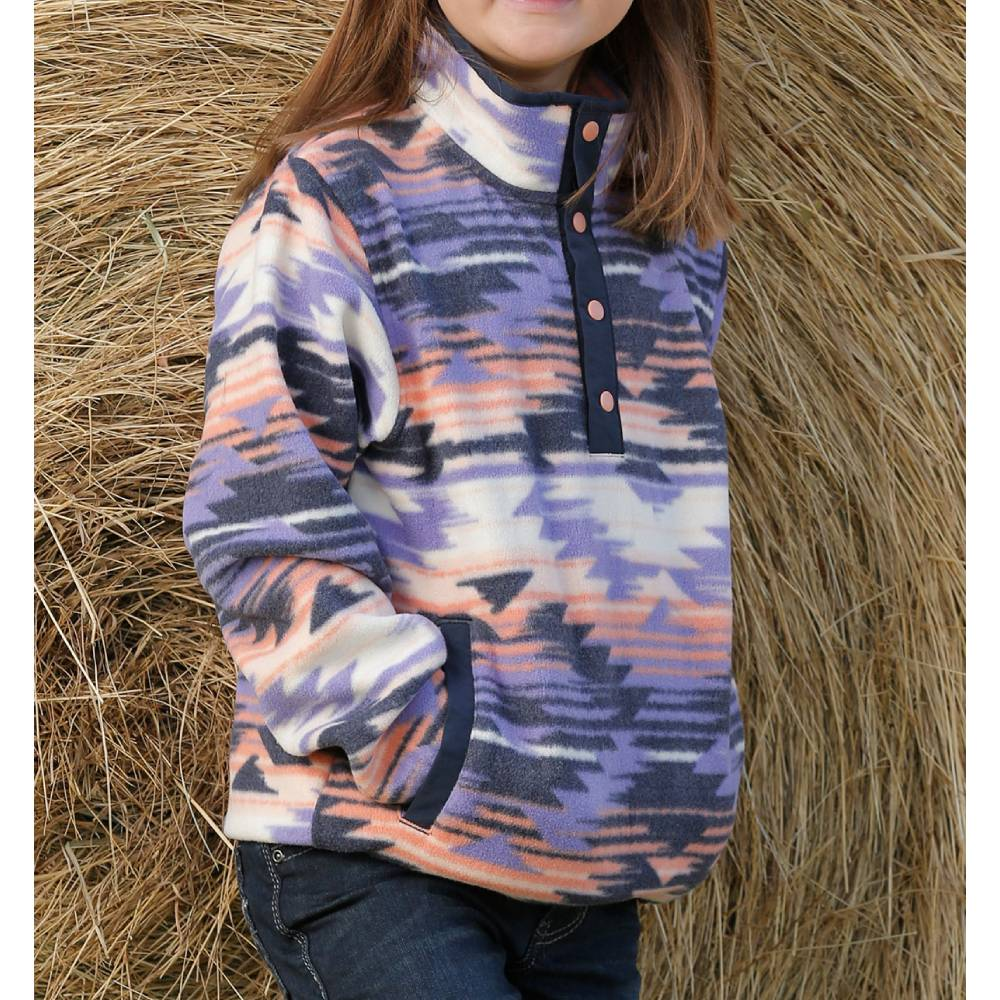 Girls Southwest Fleece Pullover