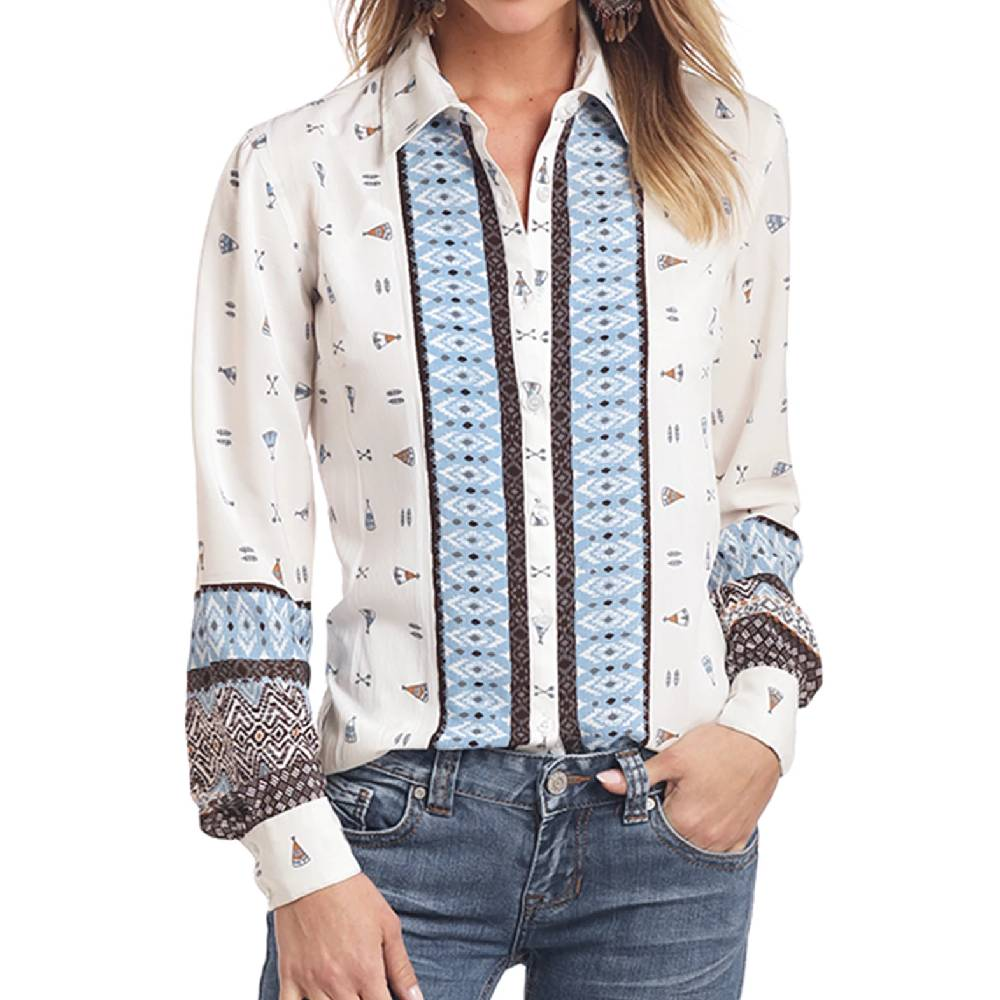 Panhandle Teepee Button Up Shirt WOMEN - Clothing - Tops - Long Sleeved Panhandle Teskeys