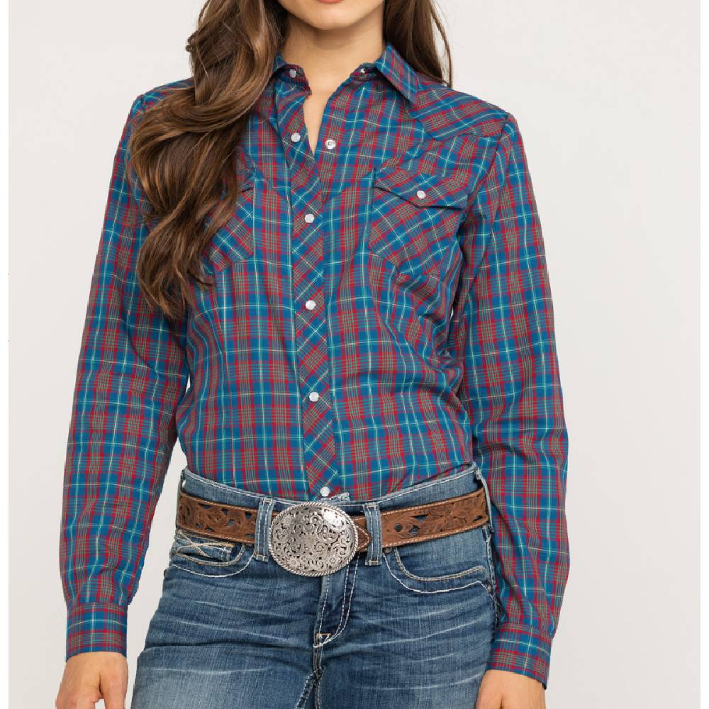 Roper Plaid Snap Up Shirt WOMEN - Clothing - Tops - Long Sleeved ROPER APPAREL & FOOTWEAR Teskeys