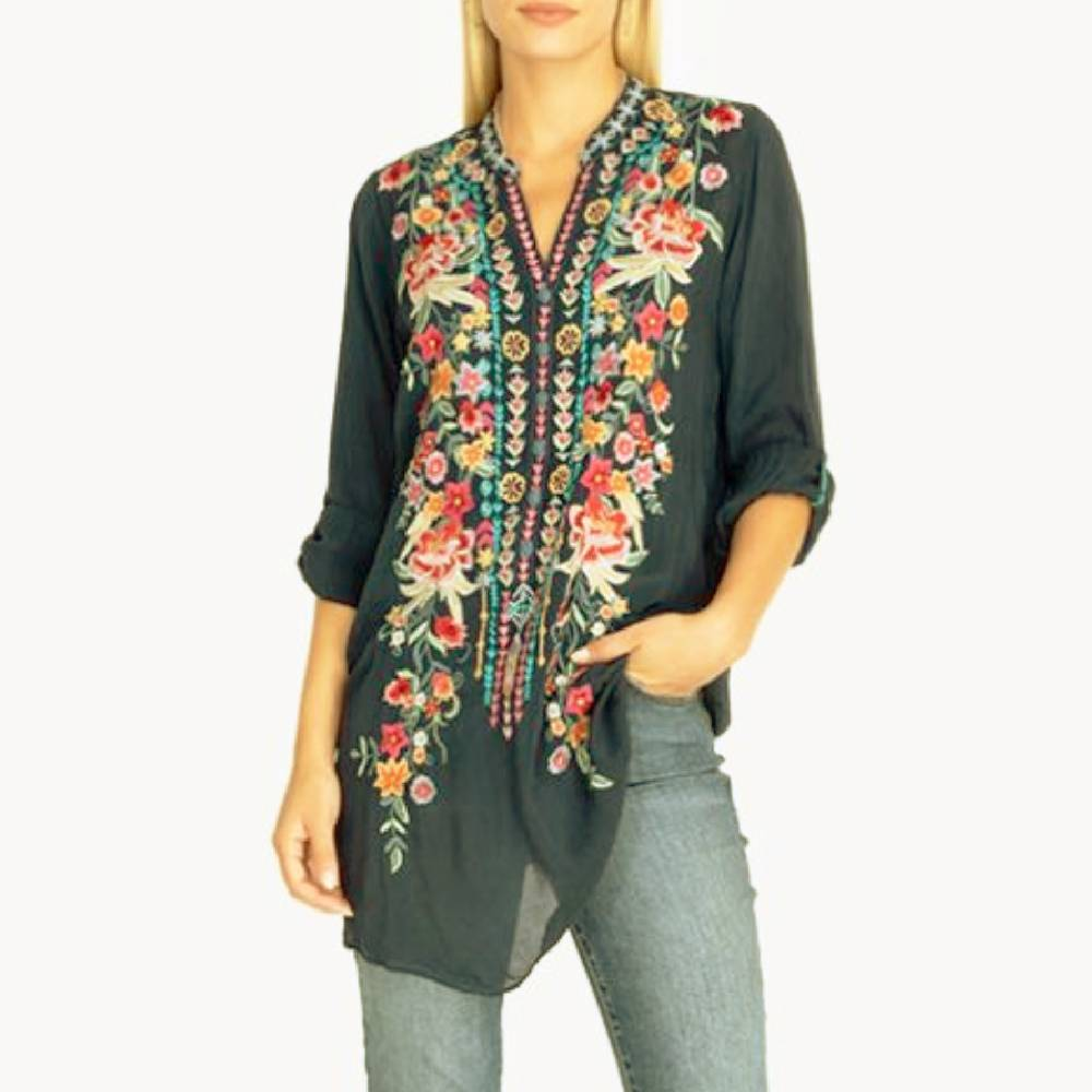 Johnny Was Annette Tunic WOMEN - Clothing - Tops - Tunics JOHNNY WAS COLLECTION Teskeys