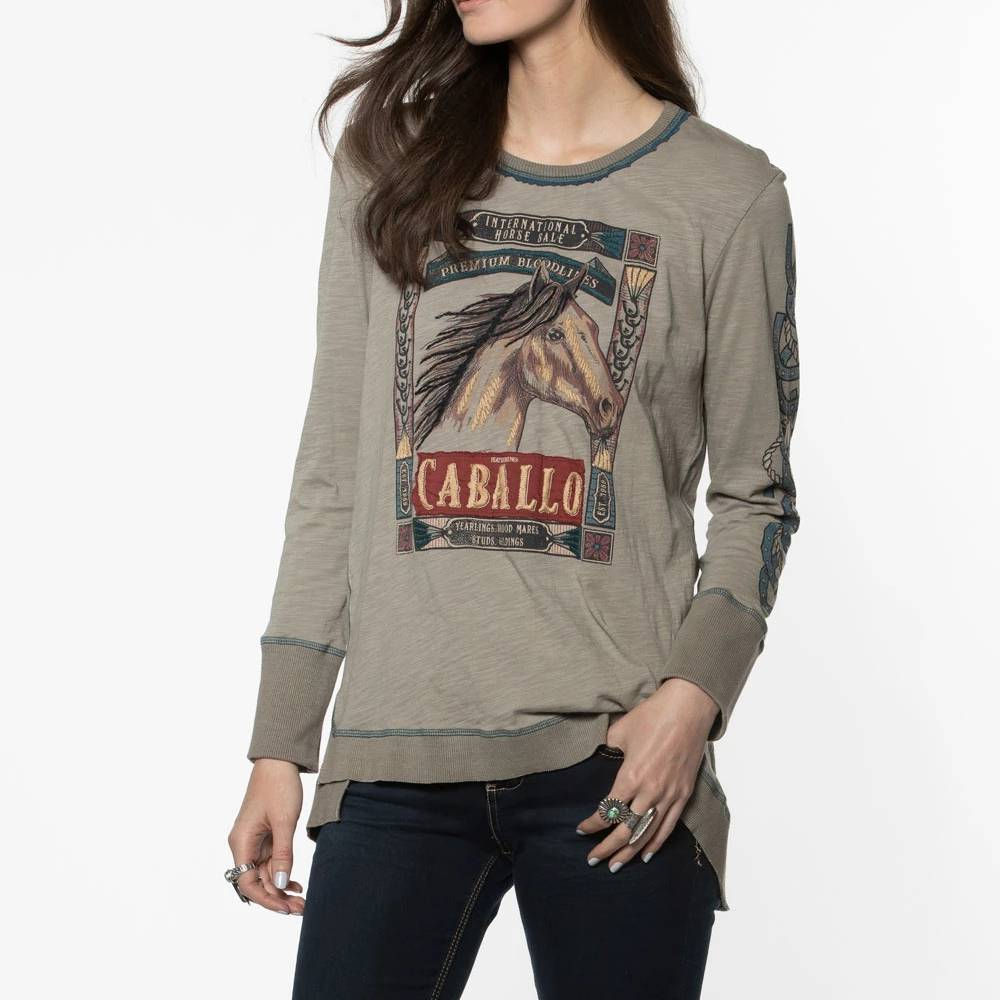 Double D Ranch Caballo Top WOMEN - Clothing - Tops - Long Sleeved DOUBLE D RANCHWEAR, INC. Teskeys