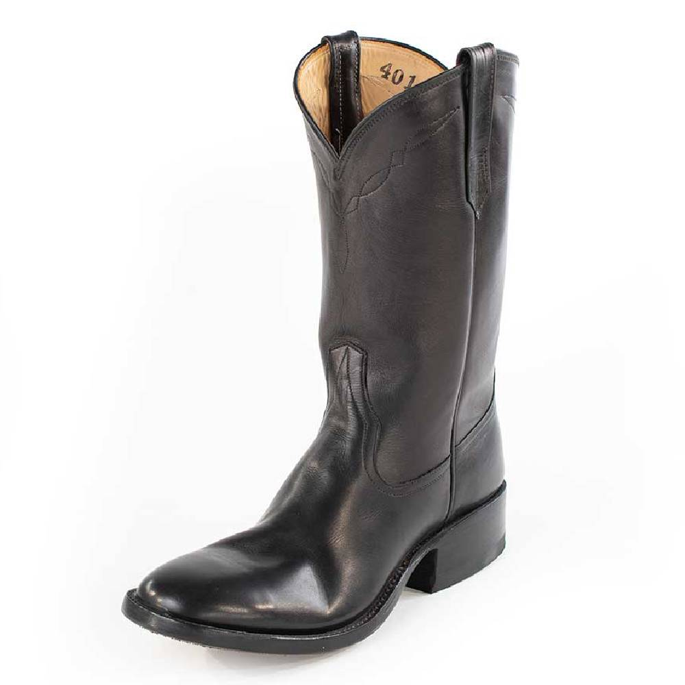 Classic Black Calf Round Toe Ladies Boot