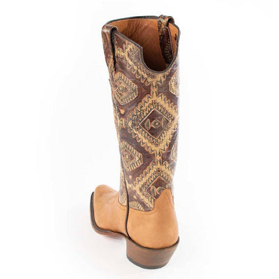 Toast Remuda Calf with Aztec Design Ladies Boot WOMEN - Footwear - Boots - Fashion Boots RIOS OF MERCEDES BOOT CO. Teskeys