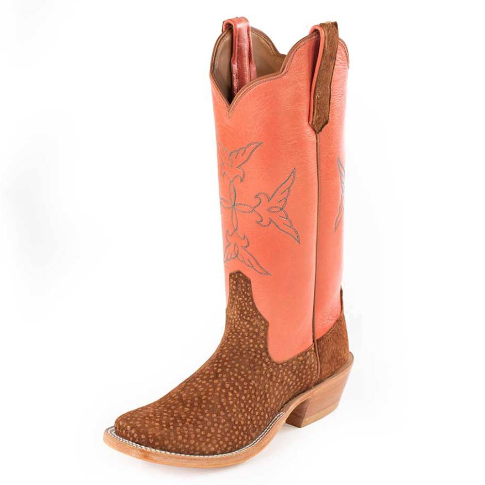 Carpincho Rust/Coral Ladies Boot WOMEN - Footwear - Boots - Western Boots RIOS OF MERCEDES BOOT CO. Teskeys