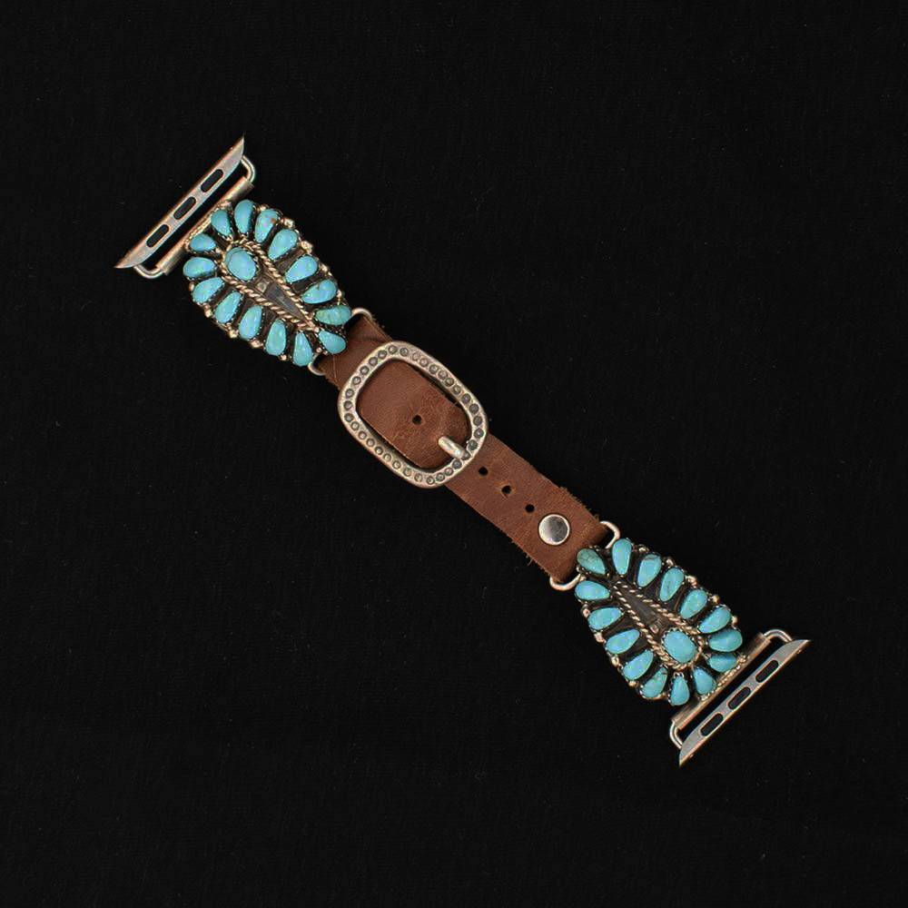42mm Turquoise Cluster Apple Watch Band WOMEN - Accessories - Jewelry - Watches & Watch Bands WILD HORSE WATCHIN' BANDS Teskeys