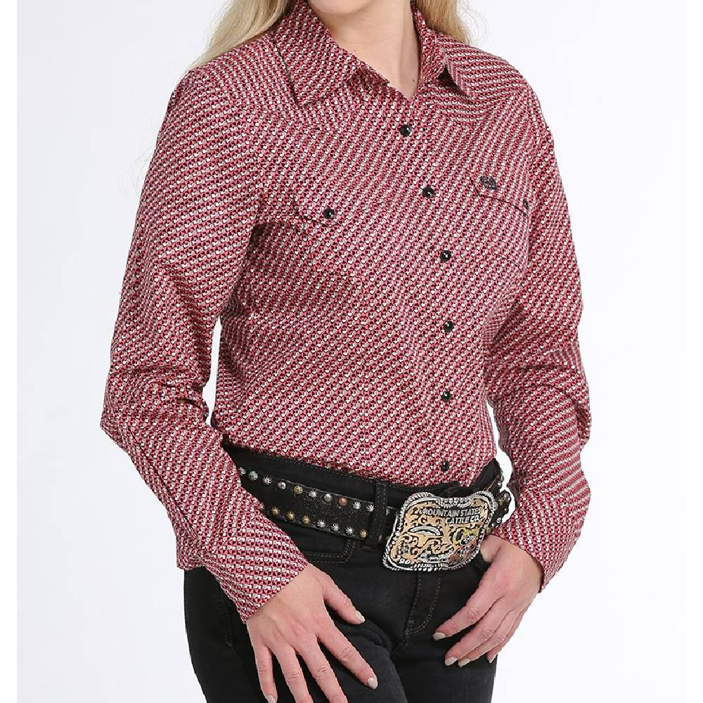 Cinch Geo Print Snap Up Shirt WOMEN - Clothing - Tops - Long Sleeved CINCH Teskeys