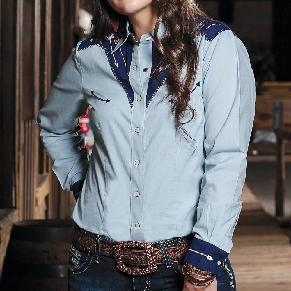 Cinch Snap Up Western Shirt WOMEN - Clothing - Tops - Long Sleeved CINCH Teskeys