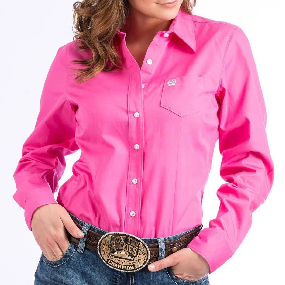 Cinch Solid Button Up Shirt