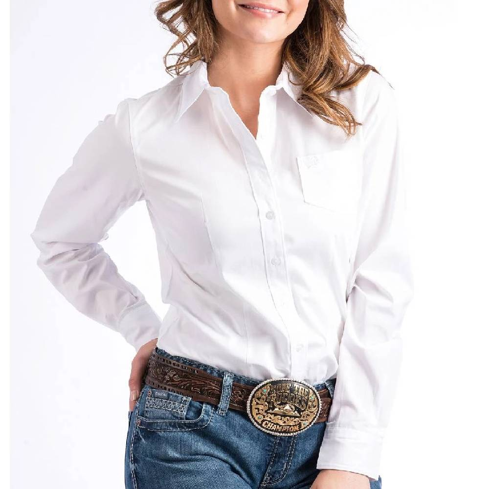 Cinch Solid Button Up Shirt WOMEN - Clothing - Tops - Long Sleeved CINCH Teskeys