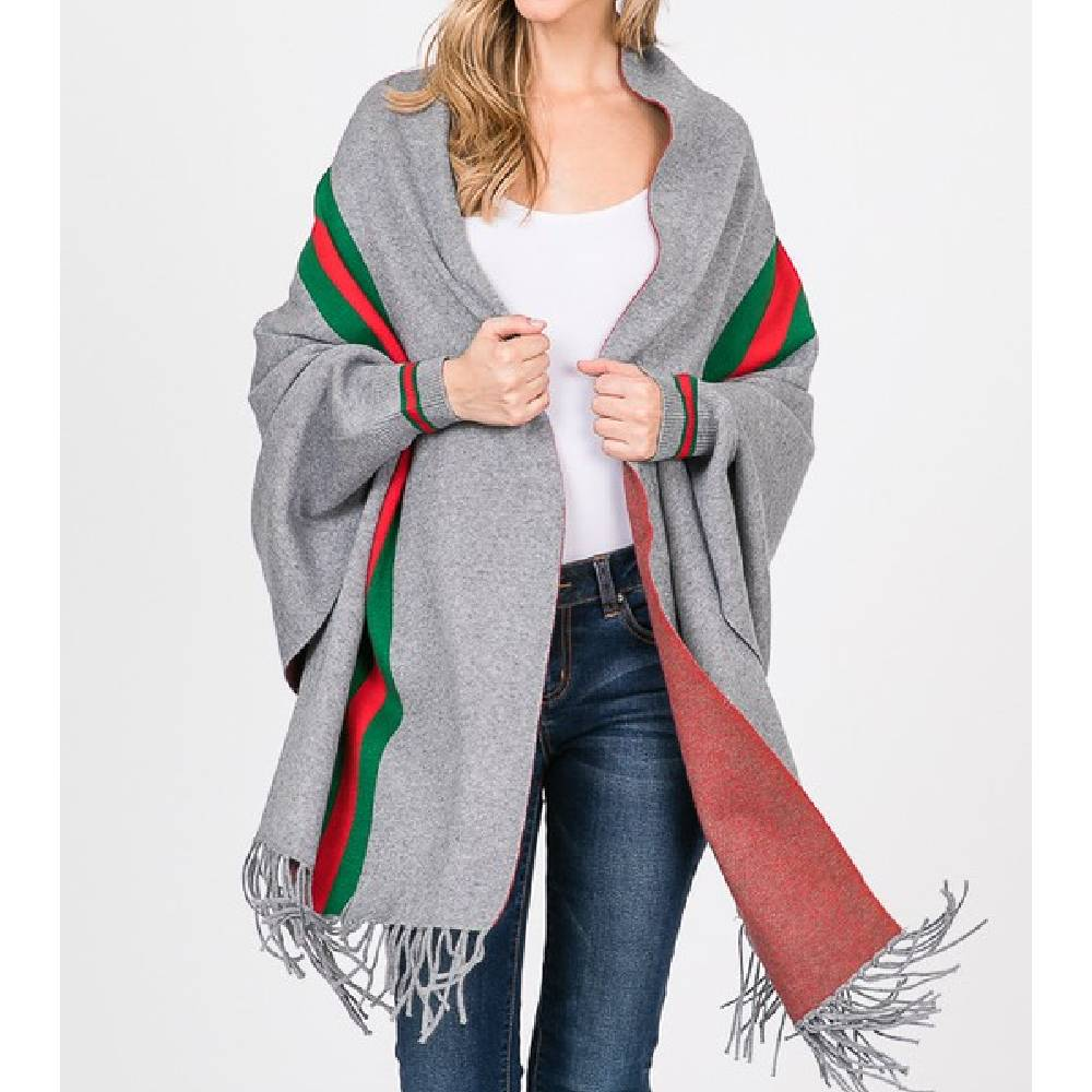 Stripe Luxury Shawl WOMEN - Accessories - Scarves & Wraps S&J FIRST TRADING INC. Teskeys