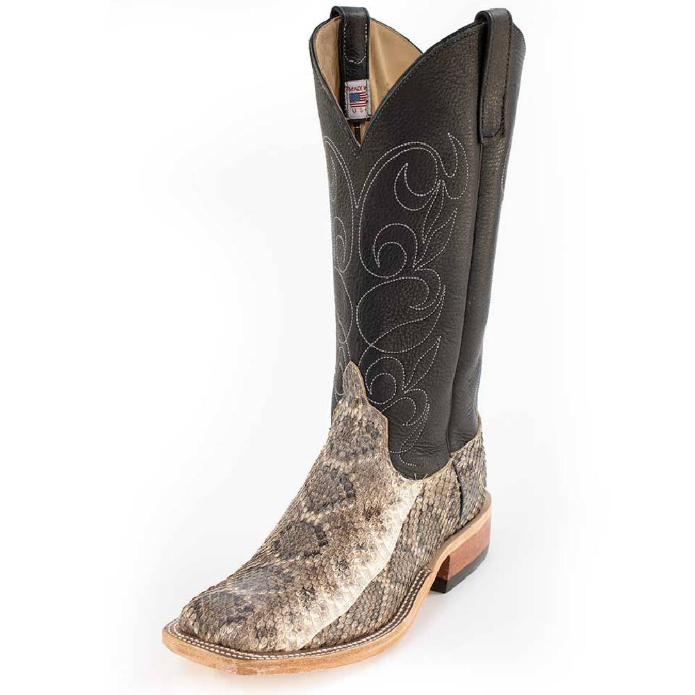 Anderson Bean Rattlesnake Skin Boot MEN - Footwear - Exotic Western Boots ANDERSON BEAN BOOT CO. Teskeys