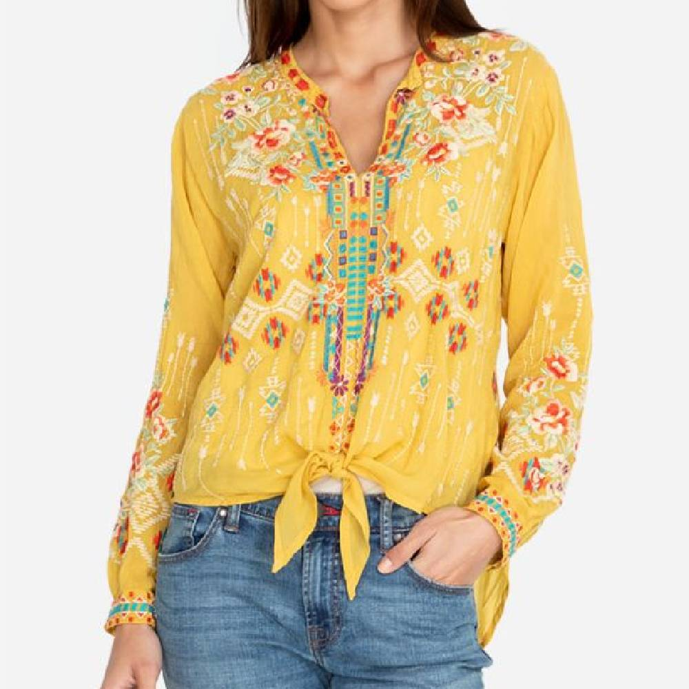 Johnny Was Donya Blouse WOMEN - Clothing - Tops - Long Sleeved JOHNNY WAS COLLECTION Teskeys