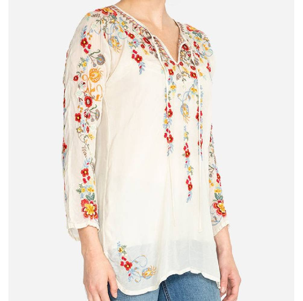 Johnny Was Autumn Bloom Tunic WOMEN - Clothing - Tops - Tunics JOHNNY WAS COLLECTION Teskeys