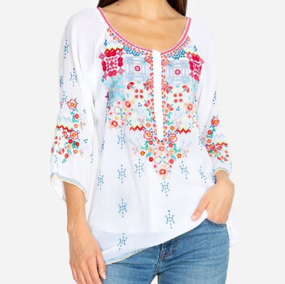 Johnny Was Muna Blouse WOMEN - Clothing - Tops - Tunics JOHNNY WAS COLLECTION Teskeys