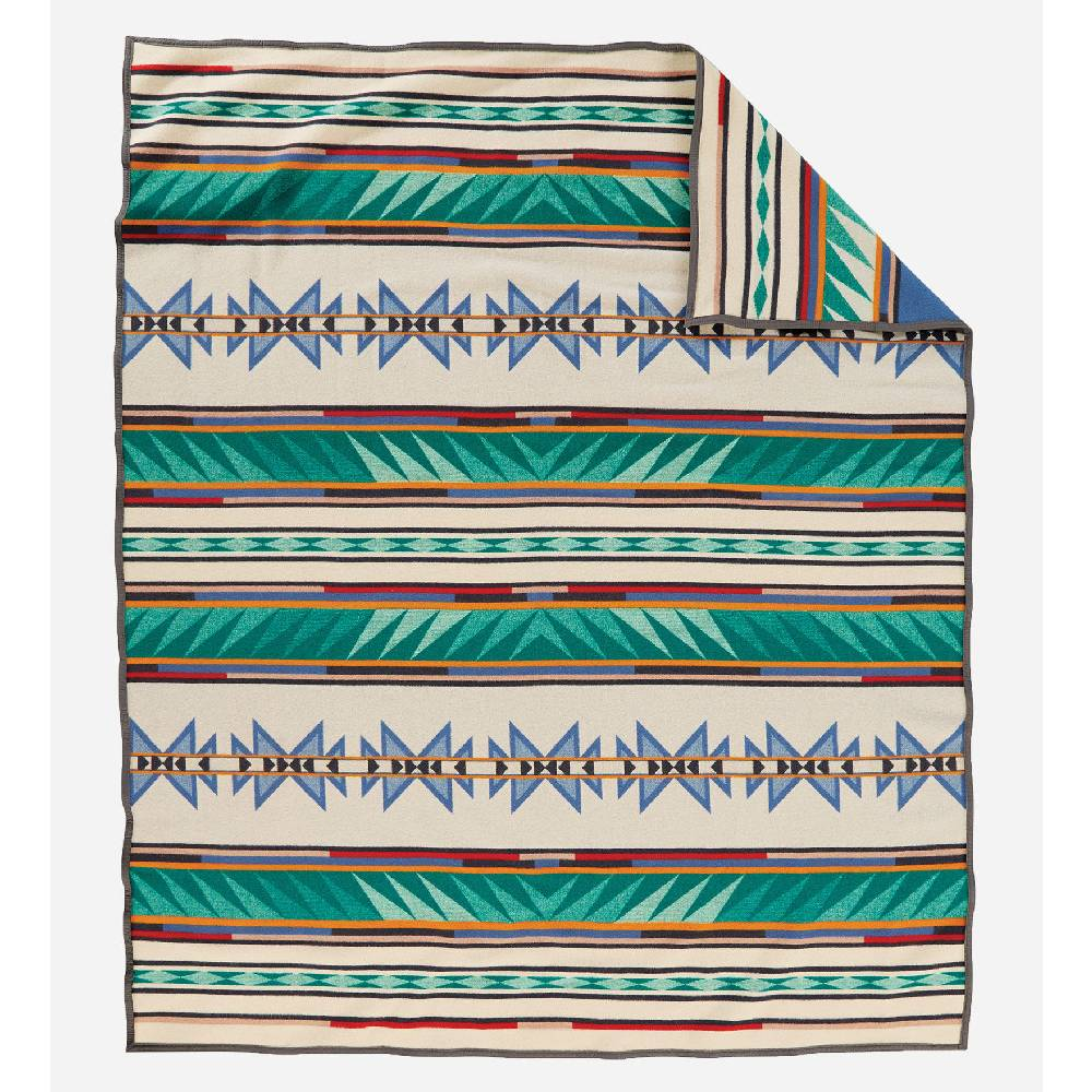 Pendleton Turquoise Ridge Queen Blanket HOME & GIFTS - Home Decor - Blankets + Throws PENDLETON Teskeys