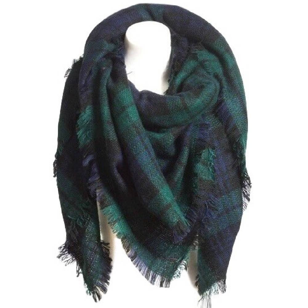 Large Plaid Blanket Scarf WOMEN - Accessories - Scarves & Wraps OLIVE & PIQUE Teskeys