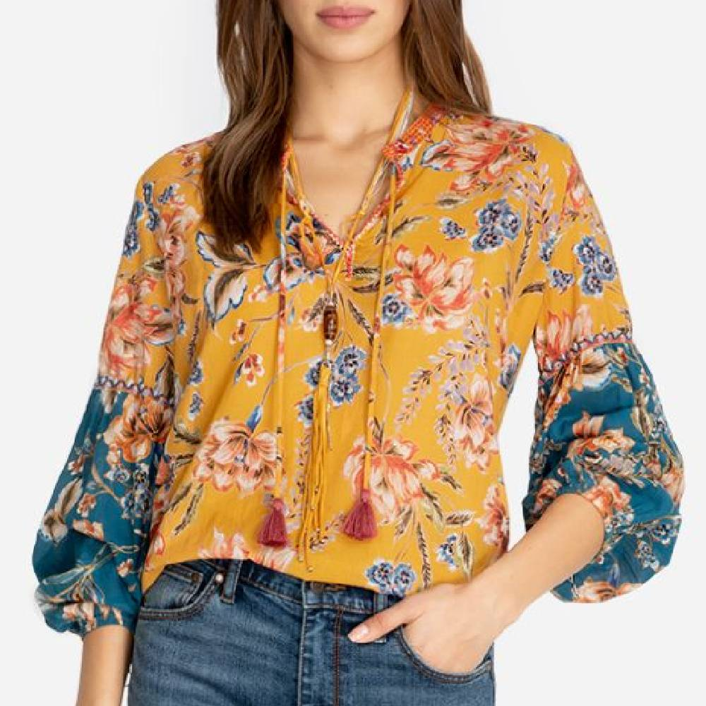Johnny Was Effortless Blouse WOMEN - Clothing - Tops - Long Sleeved JOHNNY WAS COLLECTION Teskeys