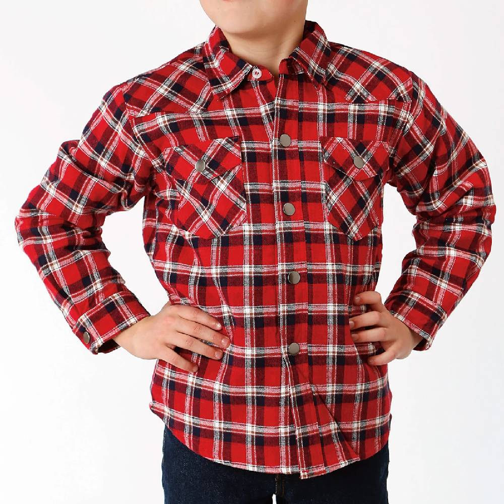 Roper Boys Flannel Shirt Jacket KIDS - Boys - Clothing - Outerwear - Jackets ROPER APPAREL & FOOTWEAR Teskeys